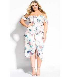 Soft Hydrangea Dress - blush